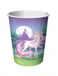 8 Vasos Unicornio mágico