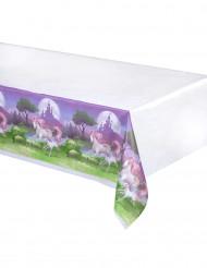 Mantel plástico unicornio mágico 130x260 cm