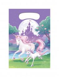 8 Bolsas regalo Unicornio mágico 22x16 cm