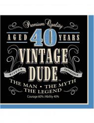 16 Servilletas papel Vintage 40 años 33x33 cm