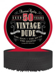 Centro de mesa cumpleaños vintage 50 años