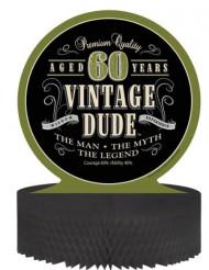 Centro de mesa cumpleaños vintage 60 años