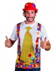 Camiseta de payaso adulto