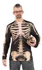 Camiseta esqueleto adulto Halloween