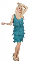 Disfraz de Charlestón turquesa mujer