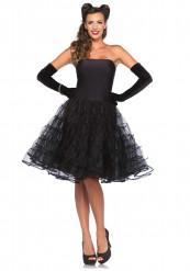 Disfraz vestido negro años 50 mujer