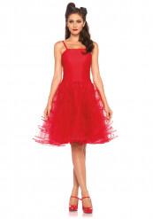 Disfraz vestido rojo años 50 mujer