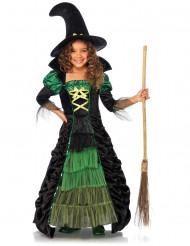 Disfraz bruja niña verde y negro