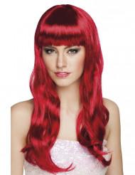 Peluca larga roja mujer