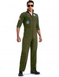 Disfraz aviador Top Gun™ con gafas Deluxe adulto