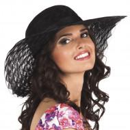 Sombrero de verano negro adulto