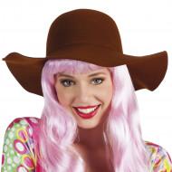 Sombrero de verano marrón mujer