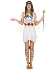 Disfraz princesa egipcia mujer blanco y dorado
