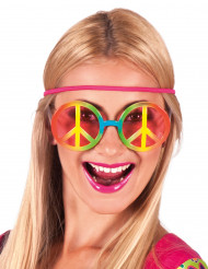 Gafas hippie arcoíris adulto