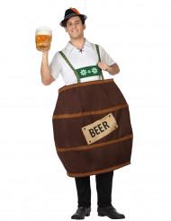 Disfraz barril de cerveza hombre