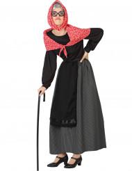 Disfraz abuela mujer