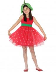 Disfraz de fresa niña