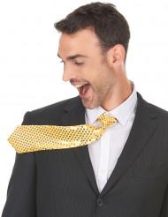 Corbata dorada adulto lentejuelas adulto