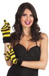 Guantes cortos abeja mujer