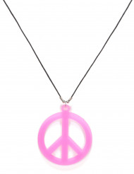 Collar hippie rosa adulto