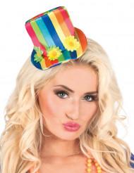 Mini sombrero multicolor mujer