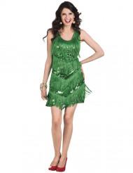 Disfraz Charlestón años 20 verde mujer