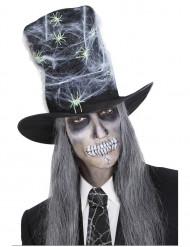 Sombrero copa Halloween telaraña adulto