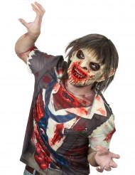 Máscara adulto látex zombie sangriento pelo Halloween Deluxe