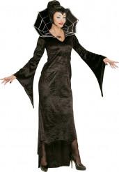 Disfraz condesa araña negro mujer Halloween