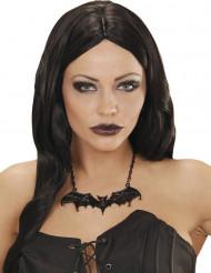 Collar murciélago negro adulto Halloween