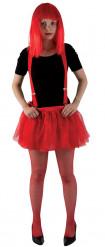 Falda tul rojo Halloween
