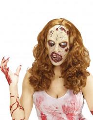Peluca con máscara zombie adulto Halloween