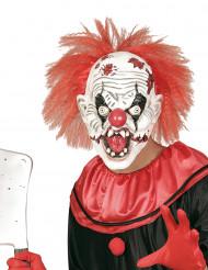 Máscara látex payaso asesino con pelo adulto Halloween