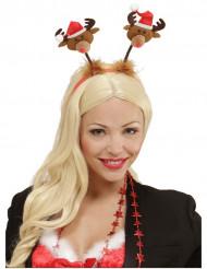 Diadema cabeza renos Navidad