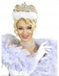 Diadema de princesa pelo blanco