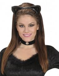 Diadema orejas gato negras adulto