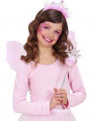 Varita y tiara princesa rosa
