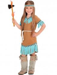 Disfraz india marrón y azul niña