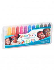 Caja 12 lápices de maquillaje multicolor Grim