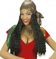 Peluca con foulard gitana mujer