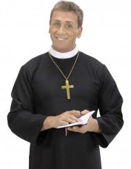 Collar cruz de monje dorada