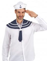 Gorro y cuello marinero adulto