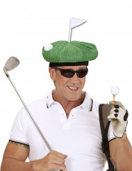 Sombrero de golfista verde adulto