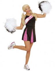 Disfraz animadora rosa y negro mujer