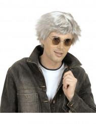 Peluca corta gris hombre
