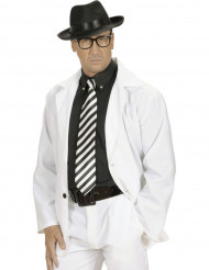 Corbata rayas negro y blanco adulto