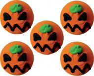 5 mini calabazas azúcar Halloween