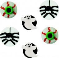 6 decoraciones azúcar Halloween