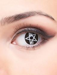 Lentillas contacto fantasía cruz satánica adulto Halloween