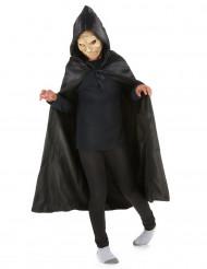 Capa negra con capucha 95 cm niño Halloween